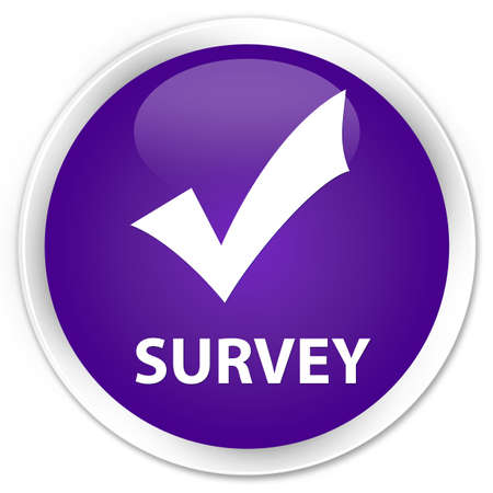 validate: Survey (validate icon) purple glossy round button