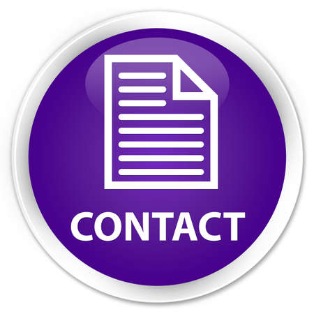 contact page: Contact (page icon) purple glossy round button