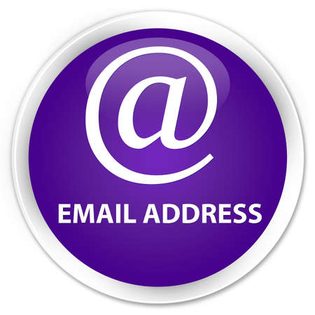 email address: Email address purple glossy round button