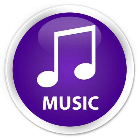 tune: Music (tune icon) purple glossy round button