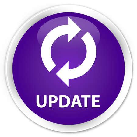 update: Update purple glossy round button