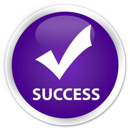 validate: Success (validate icon) purple glossy round button