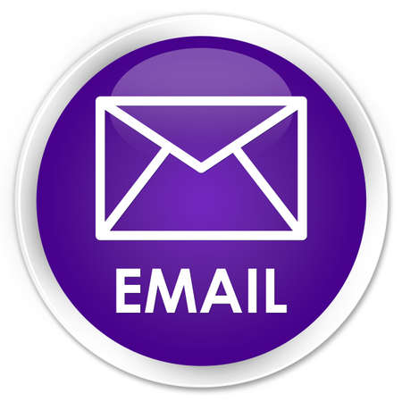 Email purple glossy round button Stock Photo