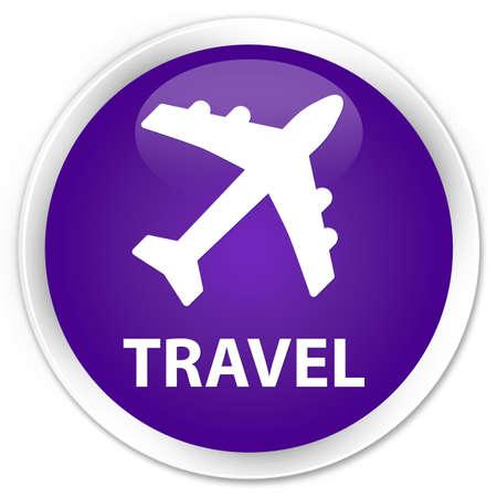 airway: Travel (plane icon) purple glossy round button
