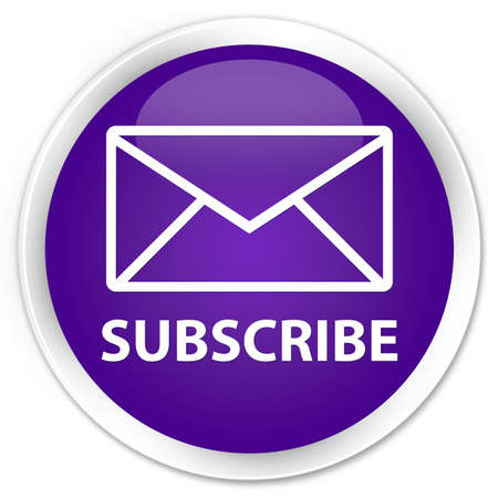 news letter: Subscribe (email icon) purple glossy round button