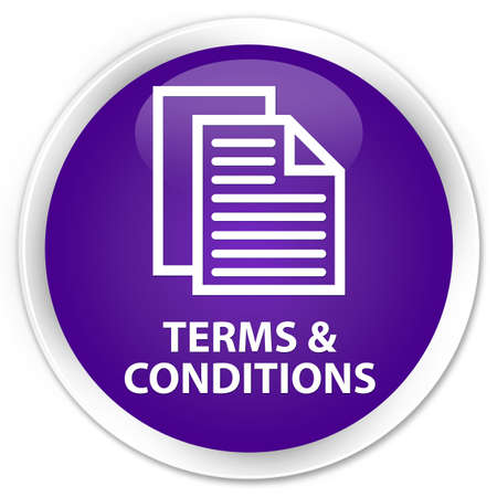 conditions: Terms and conditions (pages icon) purple glossy round button
