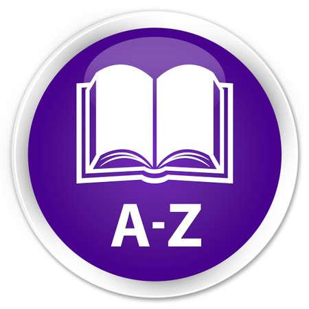 az: A-Z (book icon) purple glossy round button