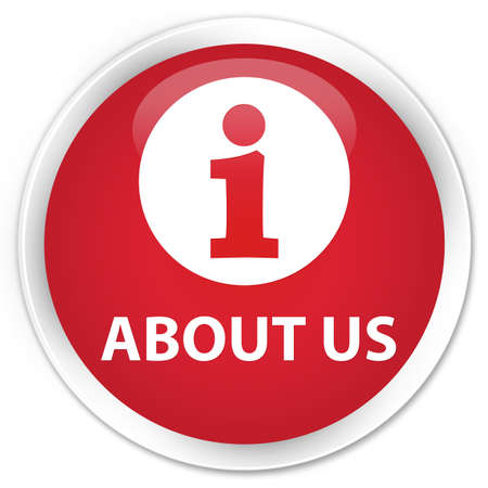 about us: About us red glossy round button