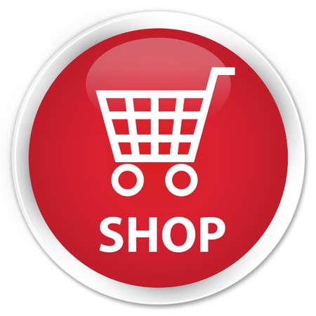 round: Shop red glossy round button