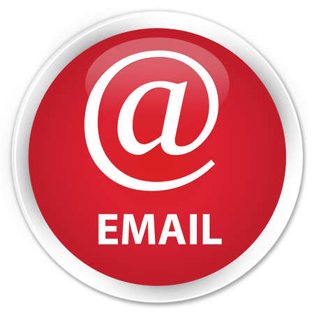 email address: Email (address icon) red glossy round button
