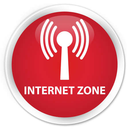 wlan: Internet zone (wlan network) red glossy round button