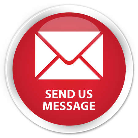 flysheet: Send us message red glossy round button Stock Photo