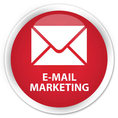 flysheet: E-mail marketing red glossy round button