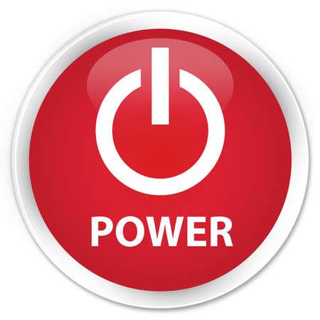 shut off: Power red glossy round button