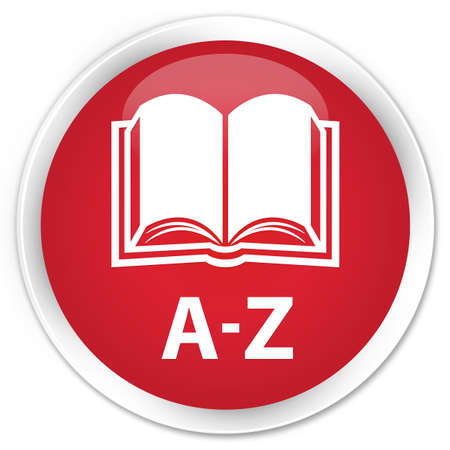az: A-Z (book icon) red glossy round button
