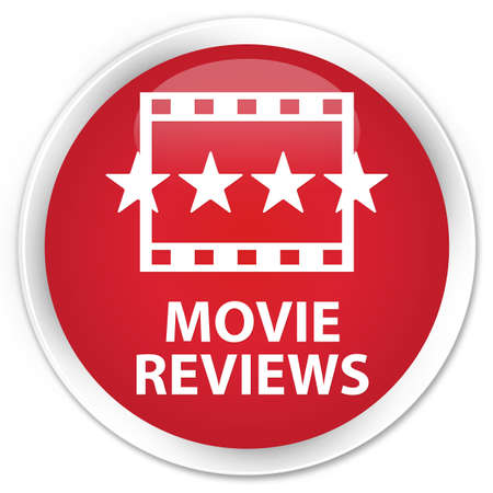 ratings: Movie reviews red glossy round button