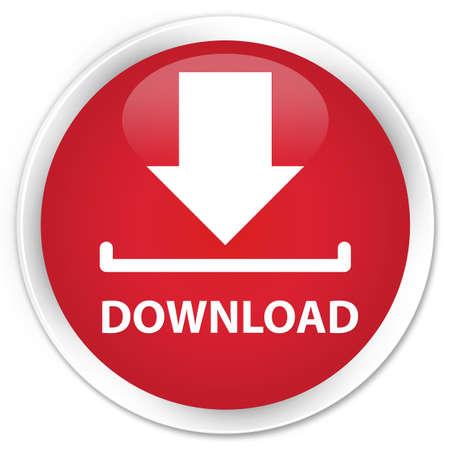 round: Download red glossy round button