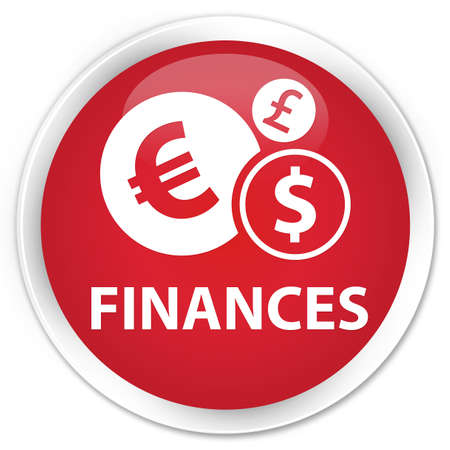 euro sign: Finances (euro sign) red glossy round button