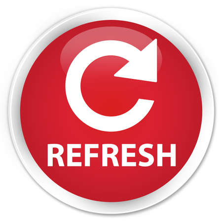 rotate: Refresh (rotate arrow icon) red glossy round button