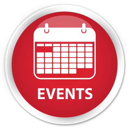 appointments: Events (calendar icon) red glossy round button