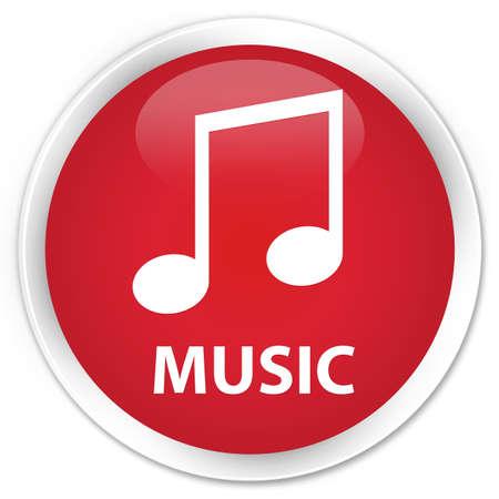 tune: Music (tune icon) red glossy round button
