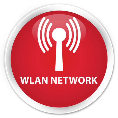 wlan: Wlan network red glossy round button