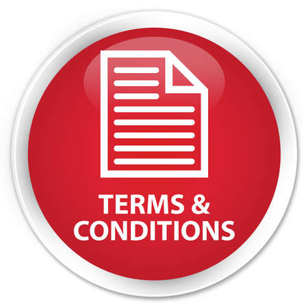conditions: Terms and conditions (page icon) red glossy round button