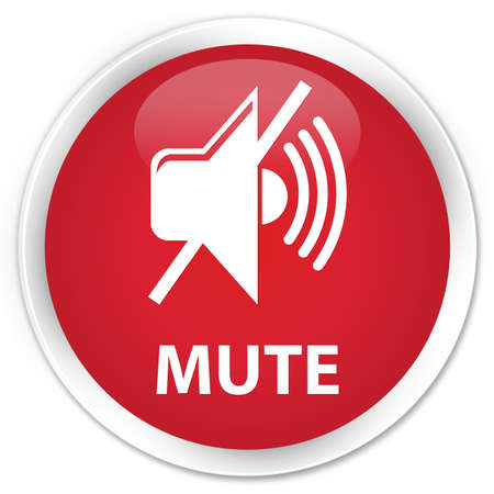 mute: Mute red glossy round button