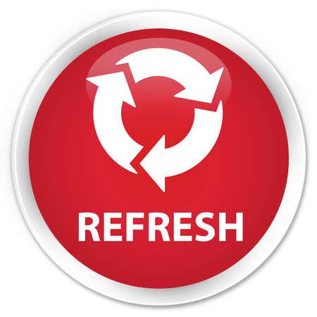 refresh button: Refresh red glossy round button