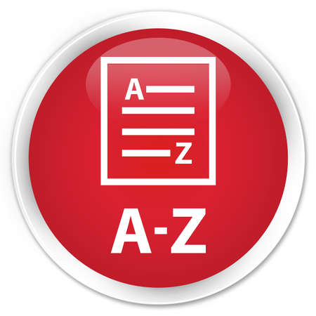 az: A-Z (list page icon) red glossy round button
