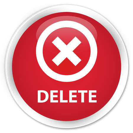 Delete red glossy round button