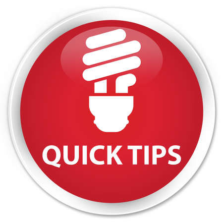 hints: Quick tips (bulb icon) red glossy round button