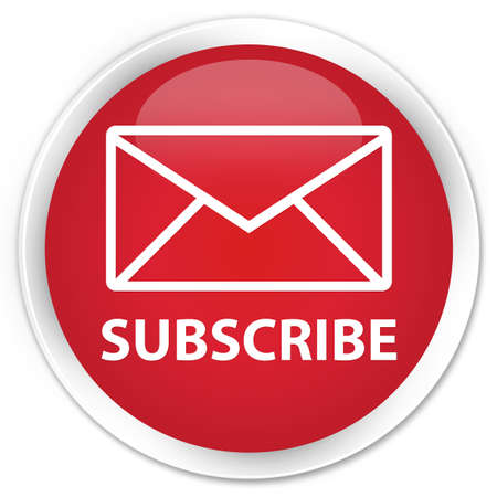 feeds: Subscribe (email icon) red glossy round button