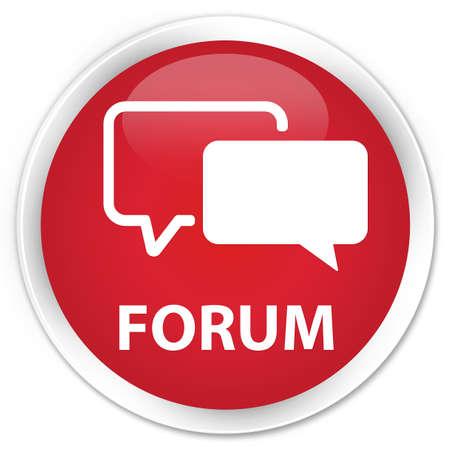 forum: Forum red glossy round button