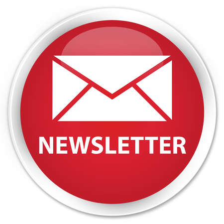 round: Newsletter red glossy round button