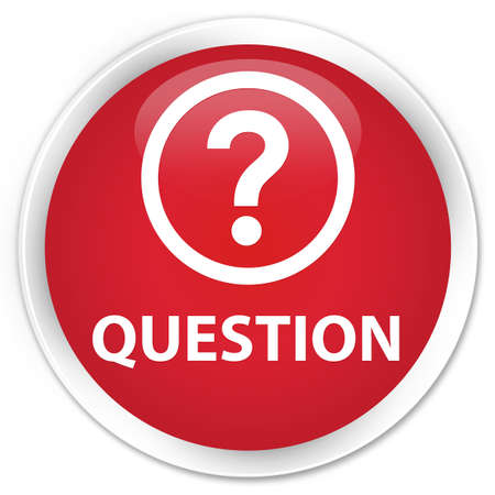 quest: Question red glossy round button Stock Photo