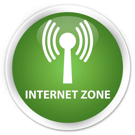 wlan: Internet zone (wlan network) soft green glossy round button