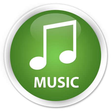 tune: Music (tune icon) soft green glossy round button