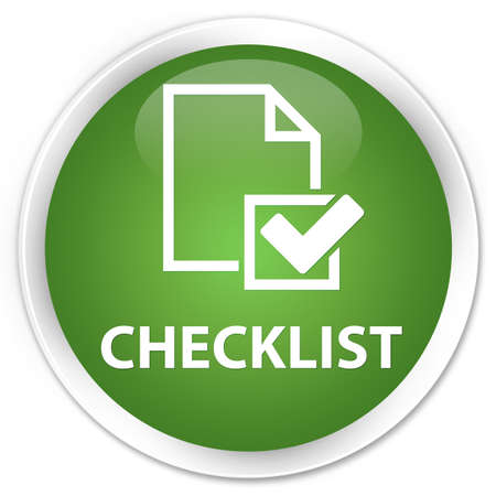 checklist: Checklist soft green glossy round button