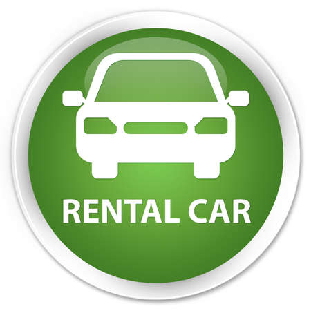 rental: Rental car soft green glossy round button