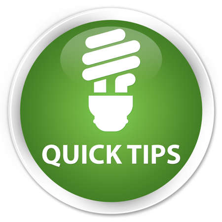 glossy button: Quick tips (bulb icon) soft green glossy round button
