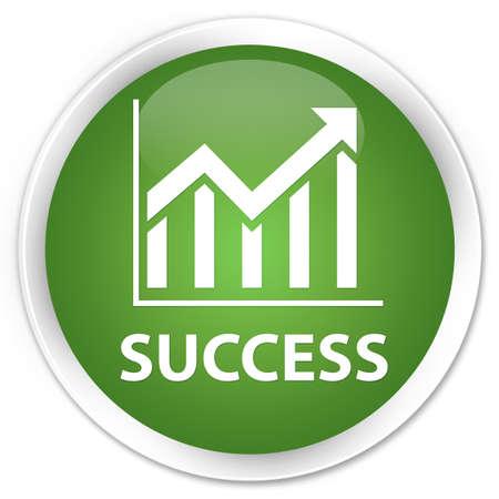 stat: Success (statistics icon) soft green glossy round button