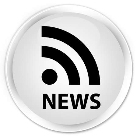 news current events: News (RSS icon) white glossy round button