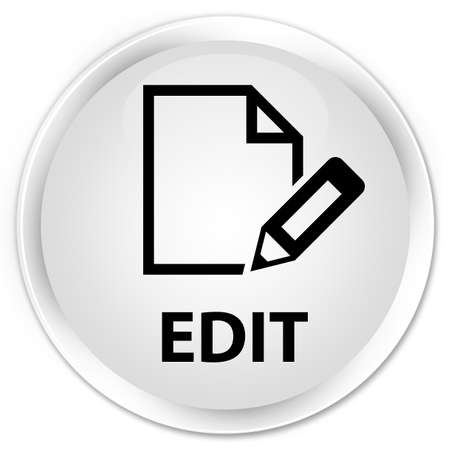 edit: Edit white glossy round button Stock Photo