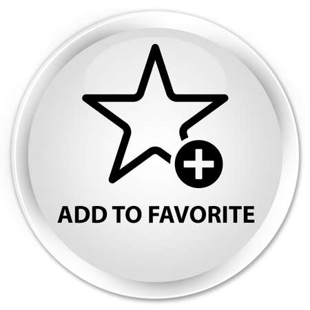 add button: Add to favorite white glossy round button