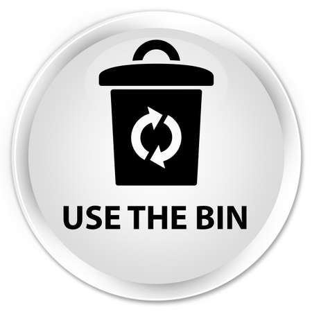 use: Use the bin white glossy round button