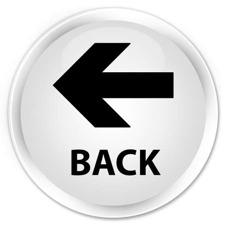 round back: Back white glossy round button Stock Photo