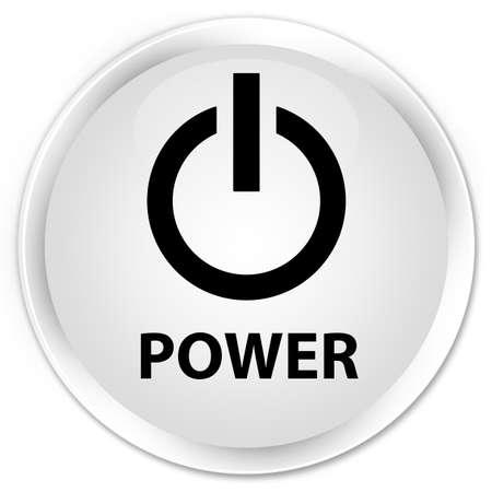 shut off: Power white glossy round button