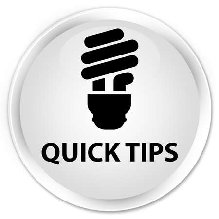 incandescence: Quick tips (bulb icon) white glossy round button
