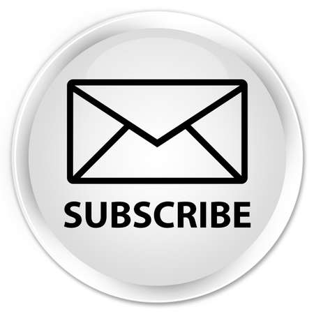 round button: Subscribe (email icon) white glossy round button